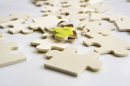 teamwork: abstract background jigsaw part decision teamwork