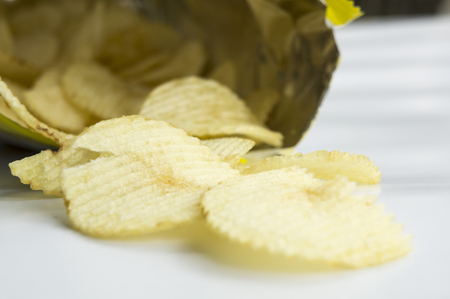 potato chip: potato chip fat cholesterol salted junk fast food
