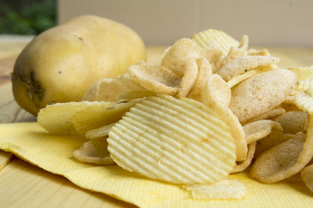 potato chip: potato chip fat cholesterol salted junk fast food