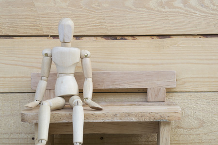 acting: dummy wood man acting alone wooden
