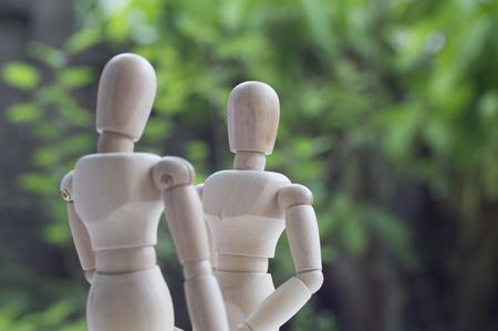dummy: dummy wood man acting couple love