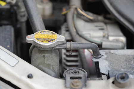 coolant checkup automobile dirty engine