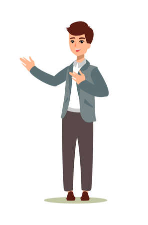 Animate character. Male personage constructor. Different man postures. Vector set personage. Vektorové ilustrace