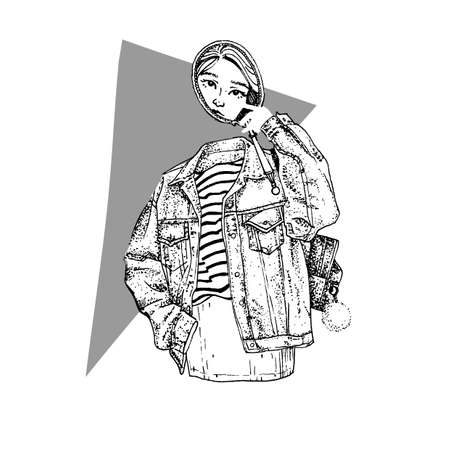 Hand drawn vector sketch illustration. Tattoo theme.