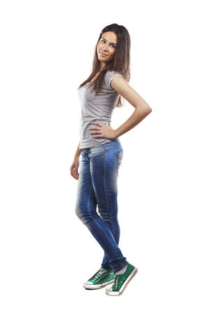 Young woman over isolated background Stock Photo - 16693220