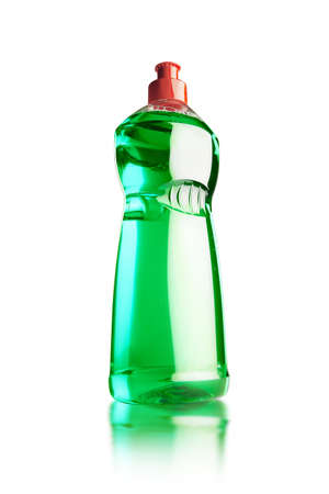 still life of a bottle of detergent on a white background with reflection  Stock Photo - 16701748