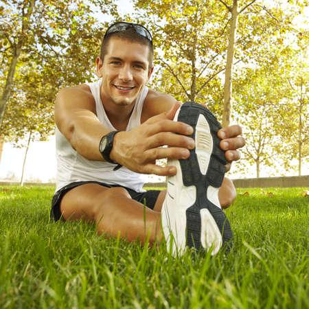 piernas hombre: J�venes deportistas hombre ejerce