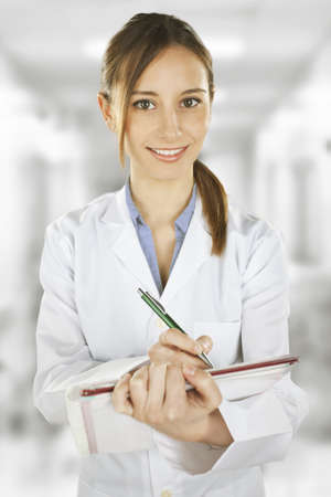 Medical people Young doctor woman