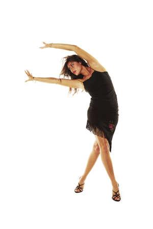 bailando flamenco: mujer bailando sexy con tacones Foto de archivo
