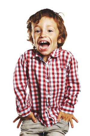 mouth smile: beautiful child isolated on white background