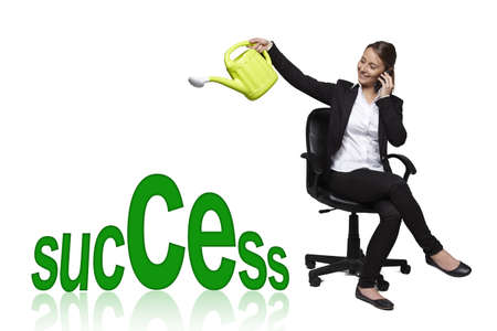 constancy: Business woman -success concept