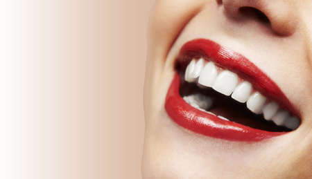 Woman smile  Teeth whitening  Dental care