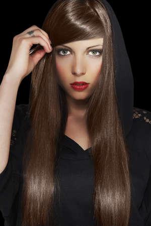 Beautiful Brunette Girl  Healthy Long Hair Stock Photo - 16968817