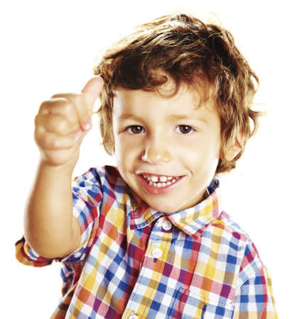 good attitude: child doing a positive signal with his hand