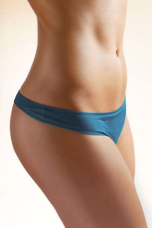 skinny woman: body care  beautiful female figure