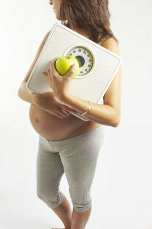 Young pregnant woman photo