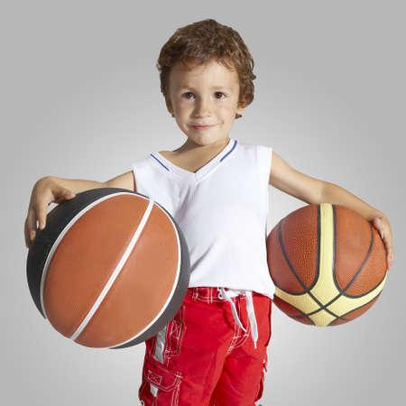Young boy basketball player photo