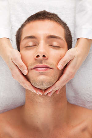 male facial: Young man skincare