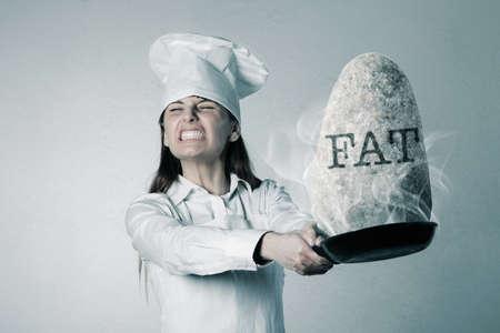 unhealthful: Unhealthy food concept