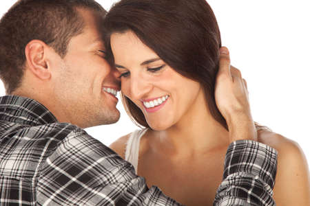 Young love couple smiling photo