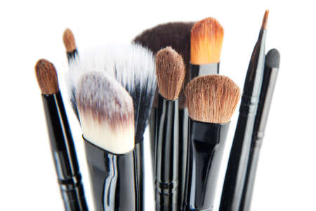 makeup brush: Set of a cosmetic brushes