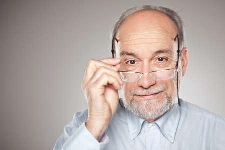 Man in studio looking at camera photo