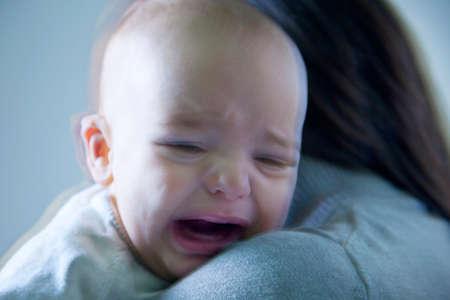 Crying baby boy photo