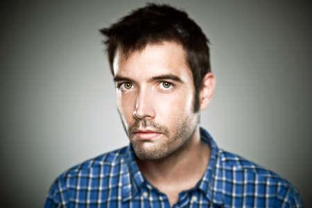 Junger Mann Gesicht, hohe ausführliches Porträt