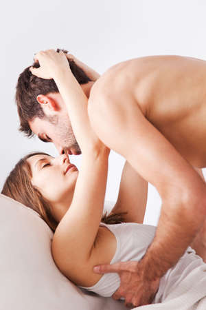 passionate lovers: Amorous young couple