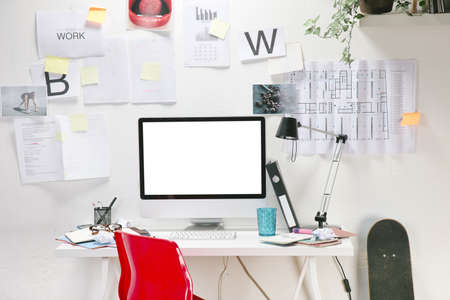 The office of a creative worker