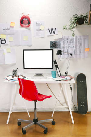 dirty room: The office of a creative worker