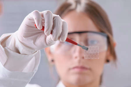 conductivity: Transparent of graphene application  Stock Photo