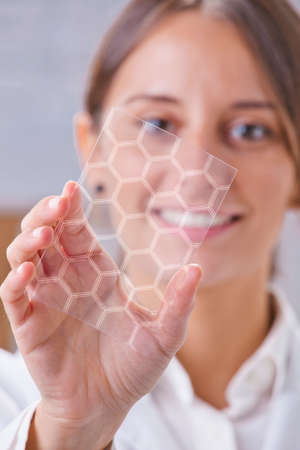 graphene: Transparent of graphene application  Stock Photo