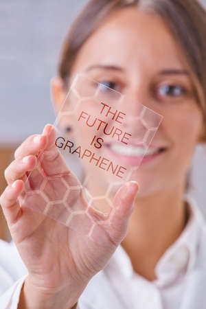conductivity: Transparent of graphene application  Stock Photo