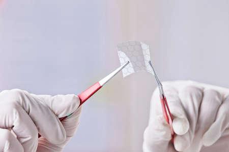 superconductivity: Transparent of graphene application  Stock Photo