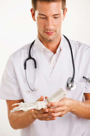 Portrait of medical doctor with stethoscope