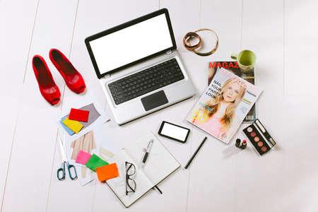 moda: Bir moda yaratıcı alan Natürmort Stok Fotoğraf