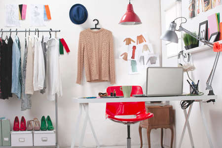 Room of a fashion blogger