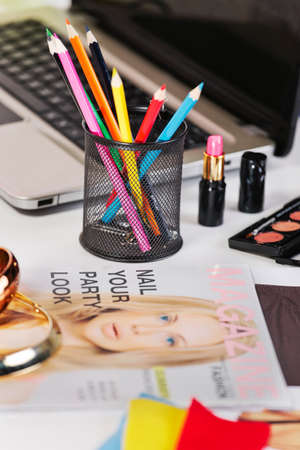 blogger: Still life of a fashion creative space