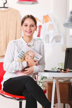 Young fashion woman working  photo