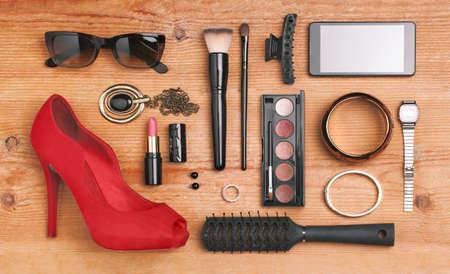 Stilleven van mode vrouw Stockfoto