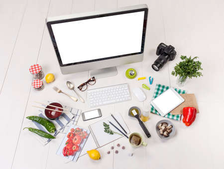 Food blogger workspace