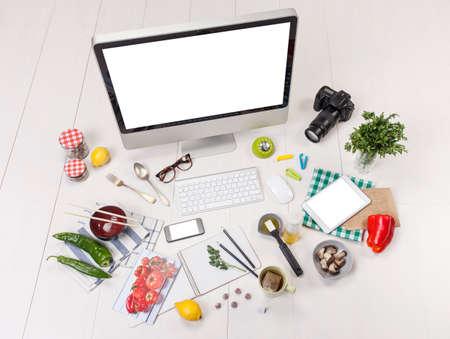 Food blogger workspace
