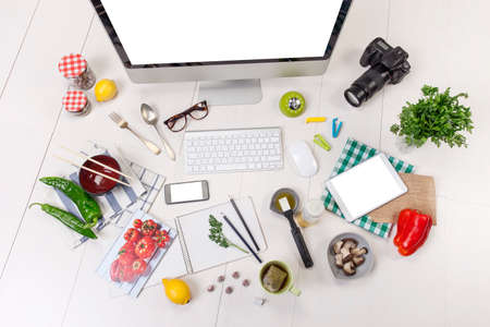 Food blogger workspace  photo