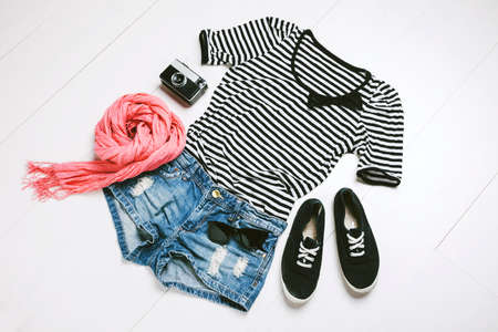 Outfit of casual woman  photo