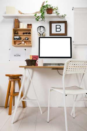 창조적 인 기업가의 사무실 스톡 콘텐츠