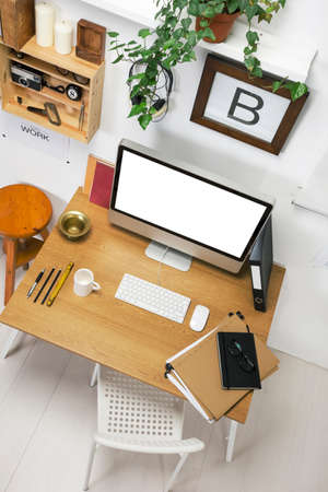 old home office: The office of a creative entrepreneur  Stock Photo
