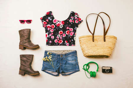 Outfit of casual and modern woman
