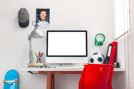Moderne studieruimte voor een jongen