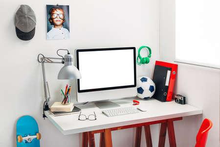 Modern study room for a boy